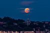 Full Moonrise over Portland Observatory Horizontal