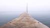 East End Dock in Fog, Portland, Maine