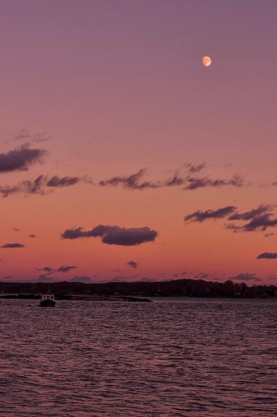 Lobster Boat Moonrise, Portland, Maine