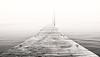 East End Dock in Fog Monochrome, Portland, Maine