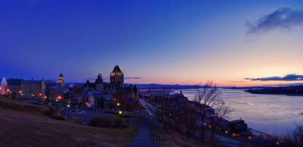 Quebec City at Dawn 2, 15 image panorama