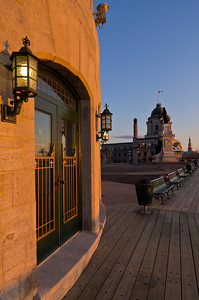 Chateau Frontenac detail, Quebec City, just after dawn