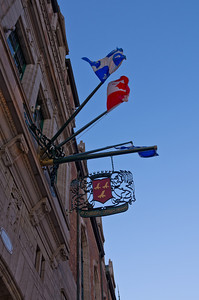 Heraldry and flags, Chateau Frontenac, Quebec City