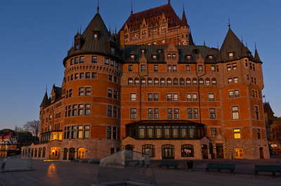 Le Chateau Frontenac, Quebec City, just after dawn