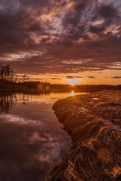 Scarborough Marsh Sunset, Scarborough, Maine