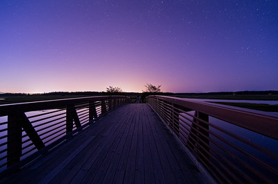 Bridge to the Stars  I love the leading lines of this bridge, that draw your eye to the starry sky beyond.