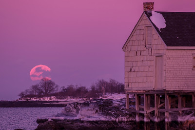 February Full Moon, Willard Beach, South Portland, ME