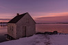 Winter Sunset, Willard Beach Shack, South Portland, Maine