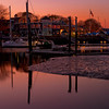 Early November Sunset, Federal Jack's Restaurant, Kennebunk, Maine