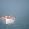 The Fog Creeps In. . .<br /> This lonely dory was floating in a dense fog bank just off South Portland's Willard Beach on a Sunday afternoon.
