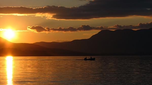 Fisherman's Sunset--Taken at Kawanhee Inn, Webb Lake, in Weld, Maine in July 2007.