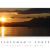 Fisherman's Sunset Poster--taken at Kawanhee Inn, Weld, Maine.