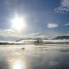Sunny dawn on Flagstaff Lake, Eustis, ME