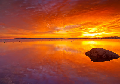 Falmouth Town Landing at dawn, Maine