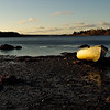 Off Duty--Deer Isle, ME, November 2007. This old rowboat lay on the mussel bed at low tide in the early morning hours.