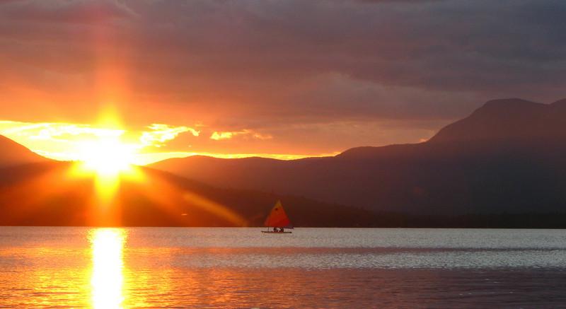 Sailing Sunset--Taken at Kawanhee Inn, Webb Lake, Weld, ME in July 2007.