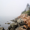 Bass Harbor Light, fogged in