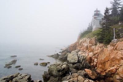 Bass Harbor Light, fogged in