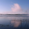 Spencer Pond Bliss, Spencer Pond, Maine.  Taken July 2007 near dawn on Spencer Pond, a few miles away from Moosehead Lake. The world was spectral and silent, the only visible life two loons and a bullfrog.