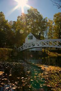 Monet Bridge in Autumn Somesville, Maine (Mt. Desert Island)