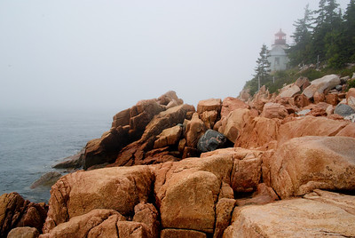 Fogged in at Bass Harbor Light 2