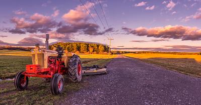 Autumn Fields Panorama, Westbrook, Maine