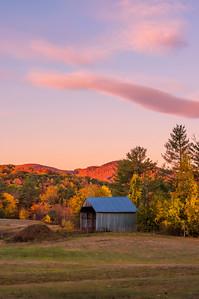 Sunrise light over Woodstock, Maine