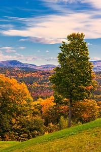 Oxford, Maine in Autumn 2