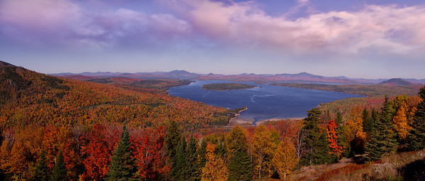 Height of Land Autumn Panorama, Rangeley,. Maine