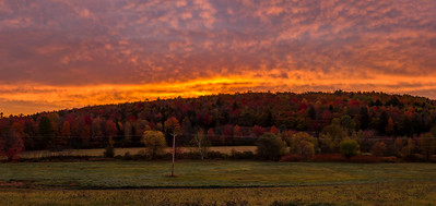 Autumnal Sunrise, Wilton, Maine Panorama