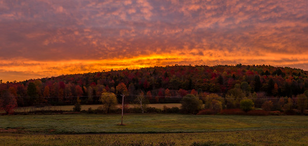 Autumnal Sunrise, Wilton, Maine Panorama
