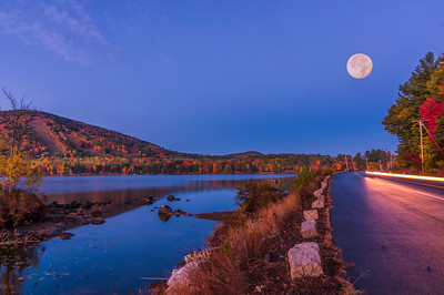 Full Moon over Moose Pond, Bridgton, Maine