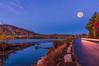 Full Moon over Moose Pond, Bridgton, Maine