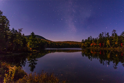 Hill's Pond stars, Wilton, Maine