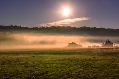 Autumn Ground Fog, Western Maine