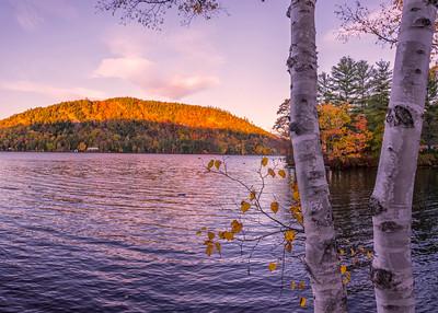 Birch Pond Panorama, Western Maine