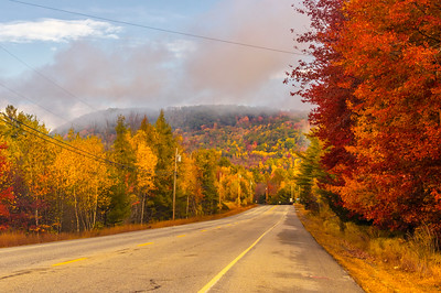 Autumn Road, Route 26, Western Maine
