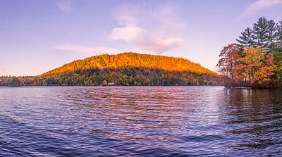 Autumn Pond (Bryant?) in Woodstock, Maine Panorama