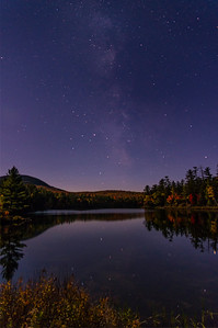 Hill's Pond Stars, Wilton, Maine vertical
