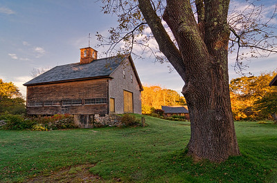 A beautiful old barn on the River Road in York, Maine.