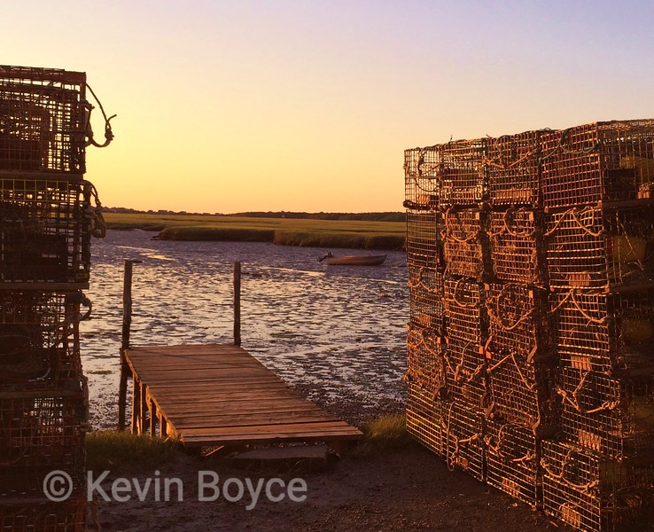 Lobster traps and Low Tide