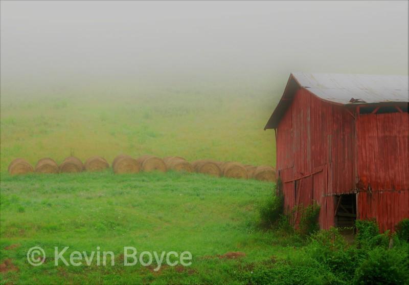 Hay Bales & Barn, Smoky Mountains