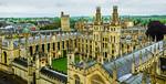 """Spires over Oxford""  Oxfordshire, Oxford University, St. Mary's Church, Oxford Camera, England, United Kingdom."