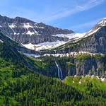 """Bird Woman Falls"" Going to the Sun Road, Glacier National Park. Just back from a week in Glacier National Park with the family! What an incredible place. Our first time there. We did the Red Bus tour and had perfect weather and skies. More posts coming later!"