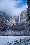 """Light on Yosemite Falls""  Winter in Yosemite National Park"