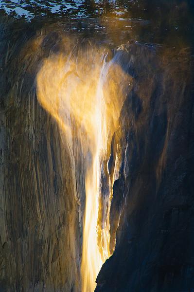 """Heart over Horsetail Falls"" Yosemite National Park"