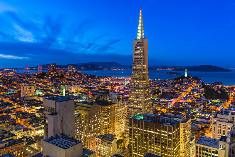 """San Francisco Cityscape at Dusk"""