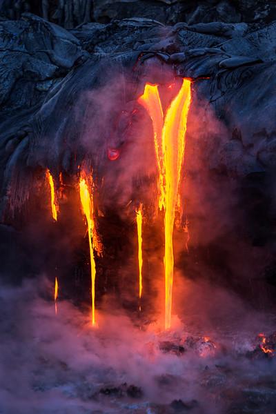 Vertical Flow of Lava