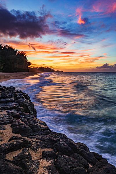 """Secret Beach Sunset in Kauai"" Kauai, Hawaii"