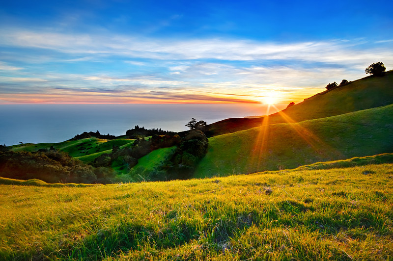 """""""Spring Sunset in the Marin Headlands"""""""